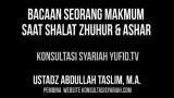 Bacaan Makmum Saat Shalat Zhuhur dan Ashar